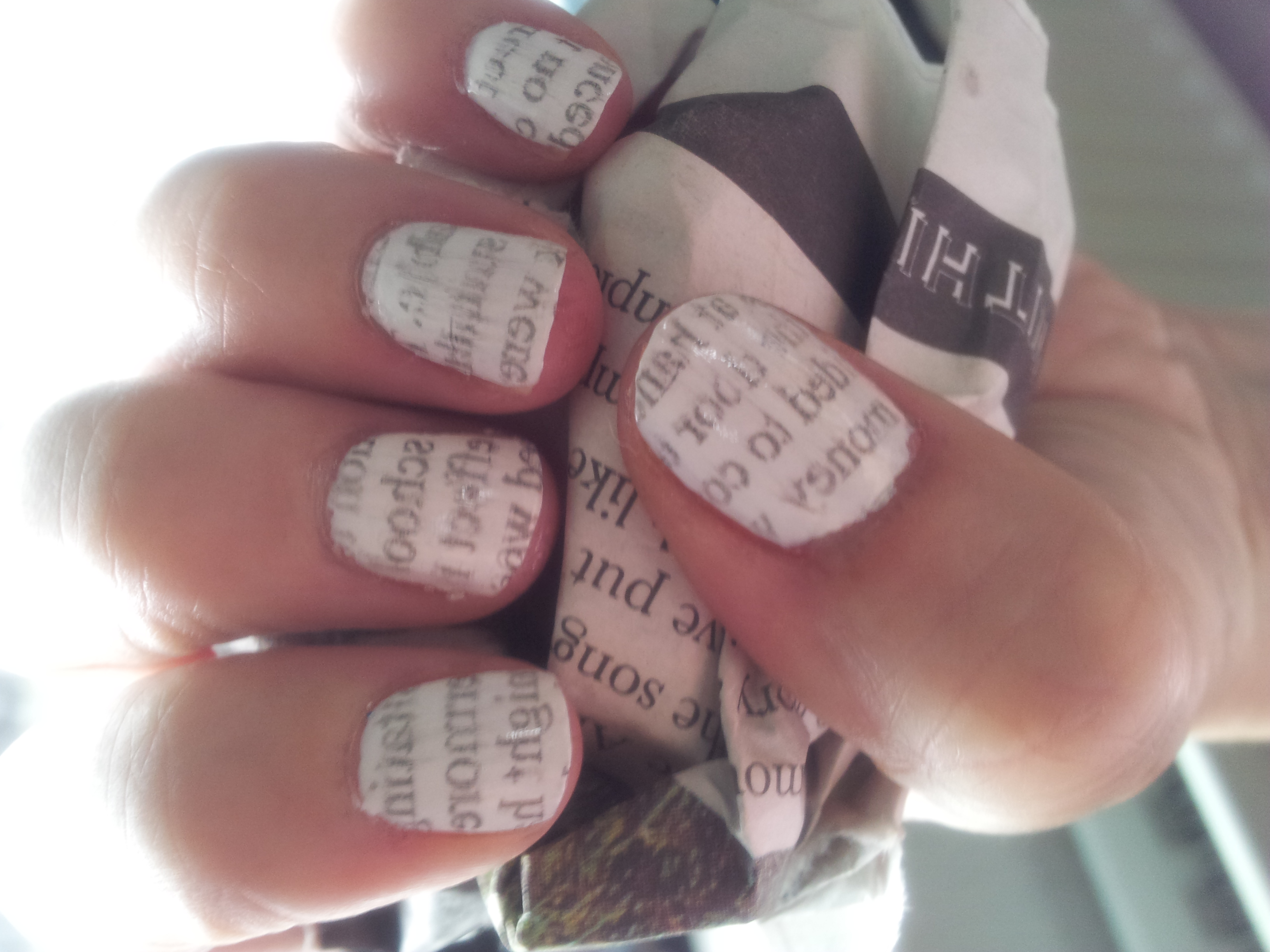 NEWSPAPER NAIL ART | Clairemarshy\'s Blog
